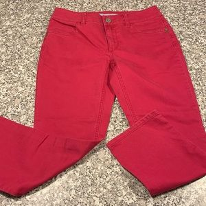Chico's denim ankle pants size 00/2 GUC dark coral